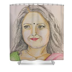 Portrait With Colorpencils 2 Shower Curtain