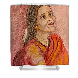 Portrait With Colorpencils Shower Curtain