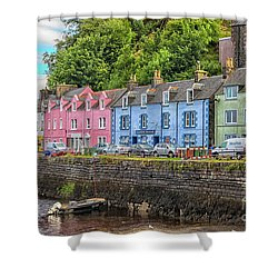 Portree Town On Skye, Scotland Shower Curtain