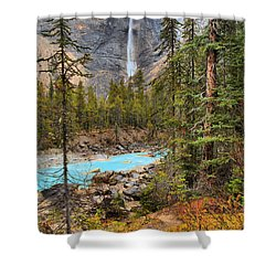 Shower Curtain featuring the photograph Portrait Of Takakkaw Falls by Adam Jewell