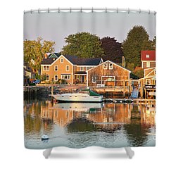 Shower Curtain featuring the photograph Portsmouth South End Waterfront by Susan Cole Kelly