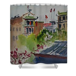 Portsmouth Square1 Shower Curtain by Tom Simmons