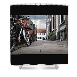 Shower Curtain featuring the photograph Portugal Place Cambridge by Gill Billington