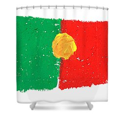 Portuguese Flag Shower Curtain by Gaspar Avila