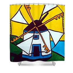 Portuguese Singing Windmill By Dora Hathazi Mendes Shower Curtain by Dora Hathazi Mendes