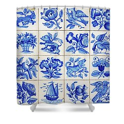 Portuguese Tiles Shower Curtain by Carlos Caetano