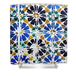 Portuguese Tiles Shower Curtain by Marion McCristall