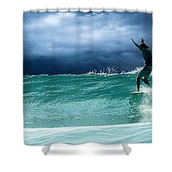 Poseiden's Prayer Shower Curtain