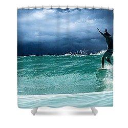 Poseiden's Prayer Shower Curtain by William Love