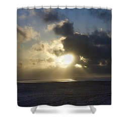 Poseidon Embellished By The Sun Shower Curtain