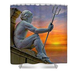 Poseidon - God Of The Sea Shower Curtain