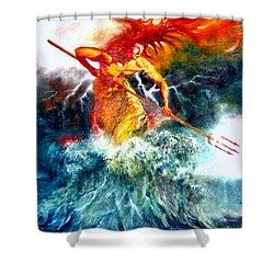 Poseidon Shower Curtain by Henryk Gorecki