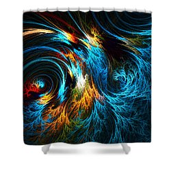 Poseidon's Wrath Shower Curtain by Lourry Legarde