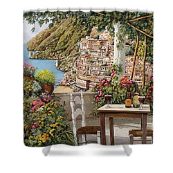 Positano Dalla Terrazza Shower Curtain