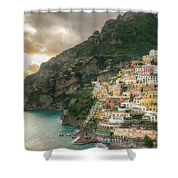 Positano Sunset Shower Curtain