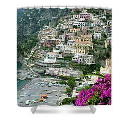 Positano's Beach Shower Curtain by Donna Corless