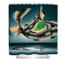 Shower Curtain featuring the digital art Position by Leo Symon