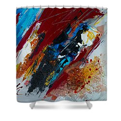 Positive Energy Shower Curtain by Elise Palmigiani