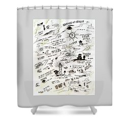 Positive Reminders Shower Curtain