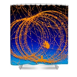 Positron Track Shower Curtain by Photo Researchers