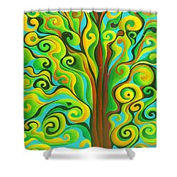 Positronic Spirit Tree Shower Curtain