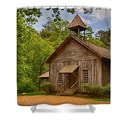 Possum Trot Church Shower Curtain