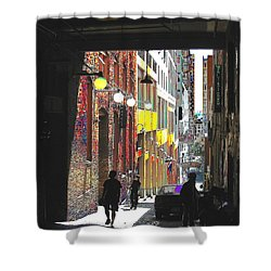 Post Alley Shower Curtain