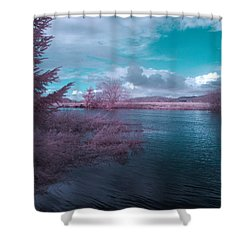 Shower Curtain featuring the digital art Post Flood Surreal by Chriss Pagani