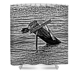 Shower Curtain featuring the photograph Post In The Bayou by Maggy Marsh