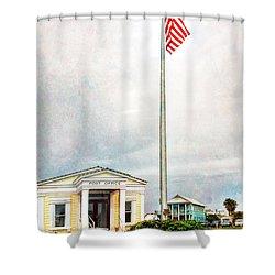 Post Office In Seaside Florida Shower Curtain by Vizual Studio