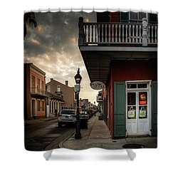 Postal On Bourbon Shower Curtain