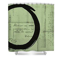 Postcard For Peace Shower Curtain by Julie Niemela