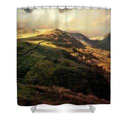 Postcard From Scotland Shower Curtain by Jaroslaw Blaminsky