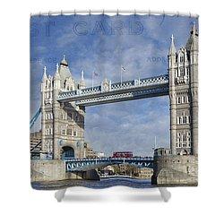 Postcard Home Shower Curtain by Joan Carroll