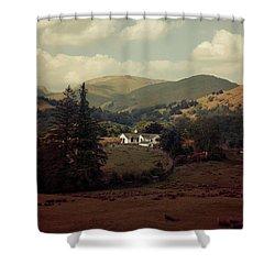 Postcards From Scotland Shower Curtain by Jaroslaw Blaminsky