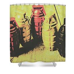 Posterized Granade Art Shower Curtain by Jorgo Photography - Wall Art Gallery