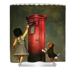 Posting A Letter Together Shower Curtain