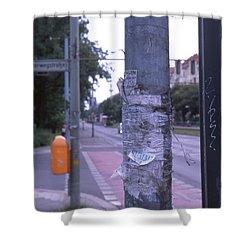 Posts And Towers In Berlin Shower Curtain
