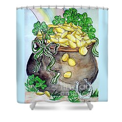 Pot-of-gold Shower Curtain
