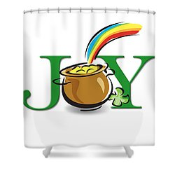 Pot Of Gold Joy Shower Curtain