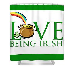 Pot Of Gold Love Being Irish Shower Curtain
