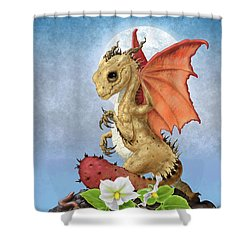 Potato Dragon Shower Curtain