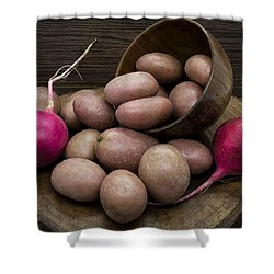 Potatoes And Radishes Shower Curtain