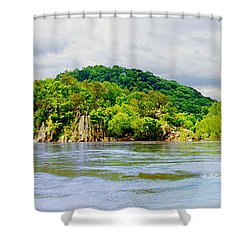 Shower Curtain featuring the photograph Potomac Palisaides by Francesa Miller