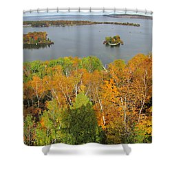 Shower Curtain featuring the photograph Potowatomi Tower by Greta Larson Photography