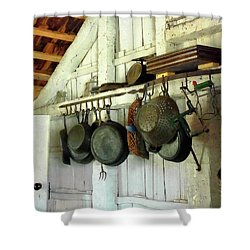 Pots In Kitchen Shower Curtain