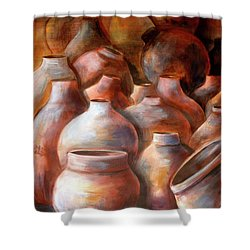 Pots In Morocco Shower Curtain