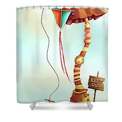 Trolls And Ladders.  Shower Curtain