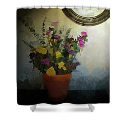 Potted Flowers 2 Shower Curtain