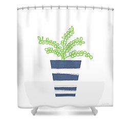 Potted Plant 1- Art By Linda Woods Shower Curtain